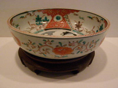 Antique 1850 A.d. Japanese Imari Bowl With Stand 3