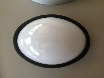 Aplique/plafon plafon para exterior color negro