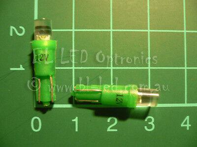 10x T5 74 24 Wedge Universal Green Flat Top LED Light Bulbs Dash Instrument HVAC