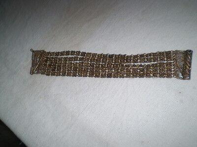 Old  RARE HANDMADE-ANTIQUE -BRACELET  filigree Handmade Bronze 4