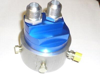Low Profile Sandwich Adaptor JACKMASTER 22mm thread AN10 STEEL FITTINGS LS2