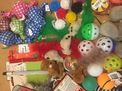 New Bulk Buy Cat Kitten Toys Rod Fur Mice Bells Balls  Catnip 10  items BARGAIN 8