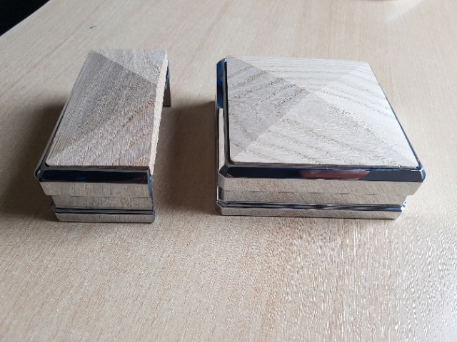 Stair Newel Post Connector and Matching Cap - Join Newel Post to Base 4