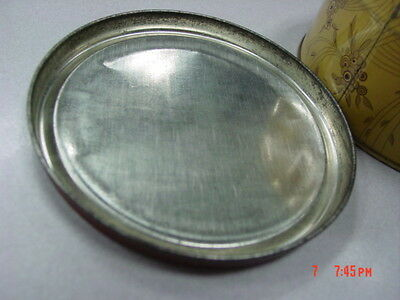 Vintage Dusting Powder Box Lavender Bath Langlois EMPTY Metal Tin Art Deco 12