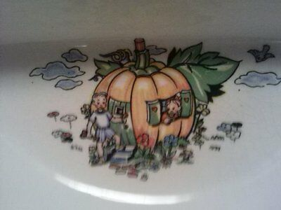 Vintage Childs Bowl Divided Dish Nursery Rhyme Motif