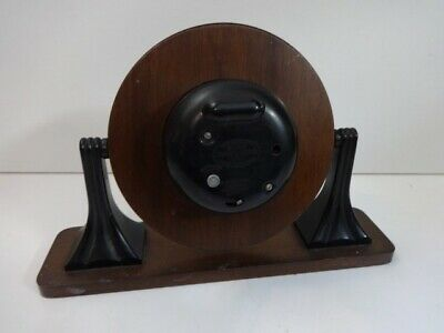 Vintage Smiths Sectric Art Deco Bakelite wood mantel clock (spares and repairs) 12