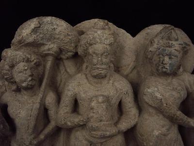 Ancient Large Size Schist Stone Stupa Panel Gandharan/Gandhara 100 AD  #SG2103 3