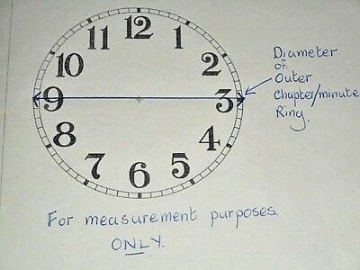 """Carriage Clock Paper Dial -1 3/4"""" M/T-High Gloss White- Face/Clock Parts/Spares 4"""