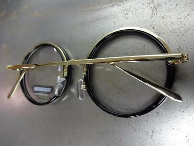 ade9bf63c9bd ... CLASSIC VINTAGE 50 s RETRO Style Clear Lens EYE GLASSES Round Black    Gold Frame 10