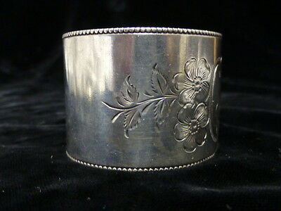 Antique American Floral Design Sterling Napkin Ring 4