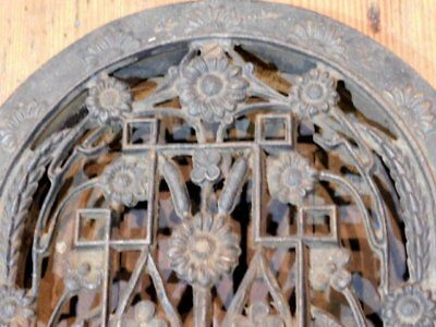 Antique Cast Iron Floral Grate - Vent AWESOME - Tombstone 6
