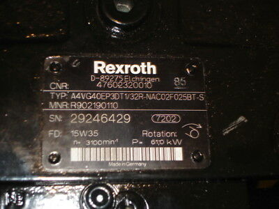 Brand new Rexroth hydrostatic drive unit - Fits Hako City Master 4
