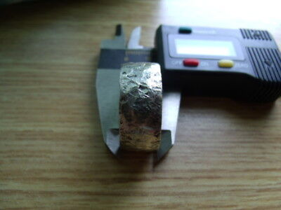 HAND CRAFTED HAMMERED 925 SILVER VIKING RING SIZED Made from Sterling Half Crown 6