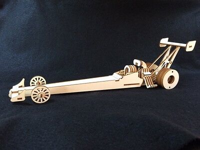 LASER CUT WOODEN Drag Car 3D Model/Puzzle Kit