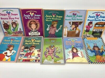 10 Pack Bundle Of Junie B Jones Home school Library Children's Chapter 3
