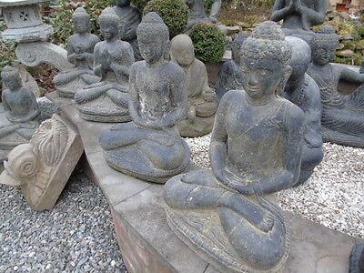 bouddha,assis statue en pierre patinée, nouveau ,bouddha tête en pointe ... 4