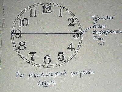 "Mantle / Shelf Paper (Card) Clock Dial - 5"" M/T-MATT CREAM-Corner Designs-Parts 4"