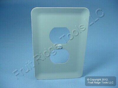 5 Leviton JUMBO White Metal Outlet Cover Oversize Receptacle Wallplates 89303-WH