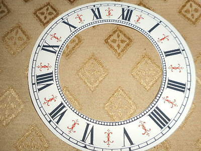 """Vienna Style Paper (Card) Clock Chapter Ring - 5"""" M/T- CREAM GLOSS- Parts/Spares 2"""