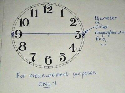 """For American Clocks-Waterbury Paper Clock Dial- 5"""" M/T- Roman-Clock Parts/Spares"""