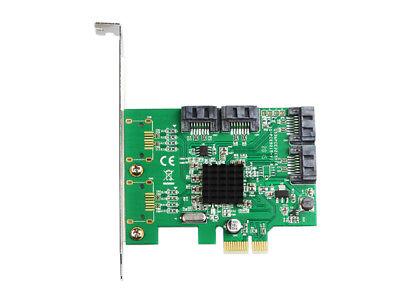 IOCrest 4 Port SATA III (6Gb/s) PCI-e Controller Card (Low Profile | Non RAID) 2