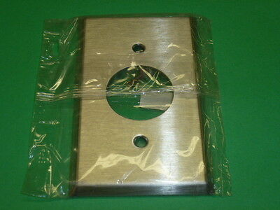 NOS! Lot (5) EAGLE 1-GANG SINGLE RECEPTACLE STAINLESS STEEL WALL PLATE, #97091