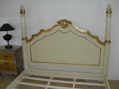 Cadre Lit Kingsize Style Baroque 180X200 Cm Doré À La Feuille D'or D'un Château 7