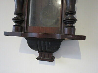 Antique German Striking Regulator Wall Clock For Restoration 3