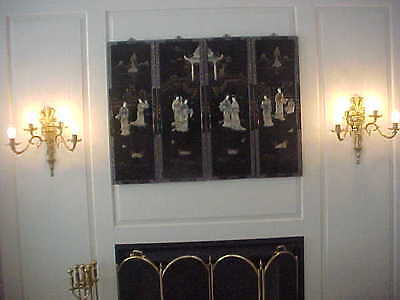 """Wall Sconces Antique 4 Light Rewired 19"""" High 19"""" Wide (Lot Of 2) 11"""