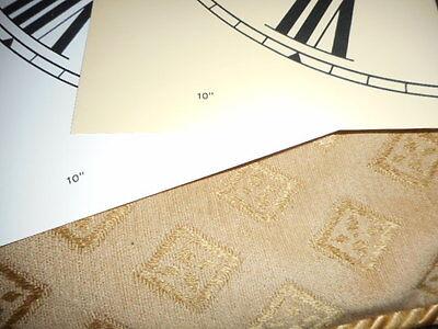"""Paper Clock Dial - 10"""" M/T - Roman Numerals -Matt Cream- Face / Clock Parts 2"""