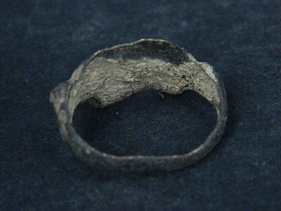 Ancient Bronze Seal Ring Bactrian 300 BC      #B277 8