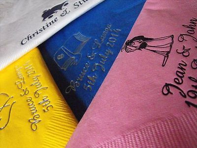 1000 x  Personalised 2 ply cocktail   Napkins 4