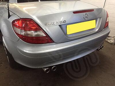 Mercedes SLK Stainless Steel Exhaust Rear Dual System & AMG Style Tips MSLK 1