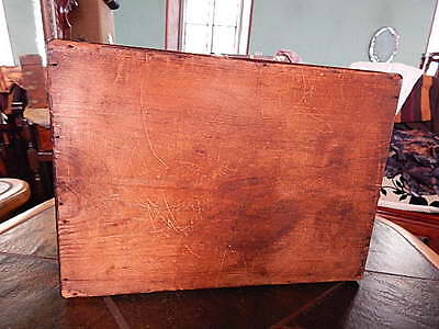 Antique Large Victorian Writing Slope Box Silver Inlaid Walnut Wooden 36cm 12