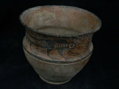 Ancient Large Size Teracotta Painted Pot With Lions Indus Valley 2500 BC #PT219 4