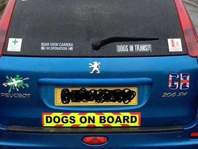 DOGS ON BOARD Magnets Magnetic Sign Trailer K9 UNIT  Chevron sticker  620mm 2