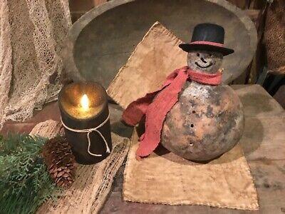 Primitive Country Snowman Cupboard Tuck Farmhouse Homestead CHRISTMAS Winter 9