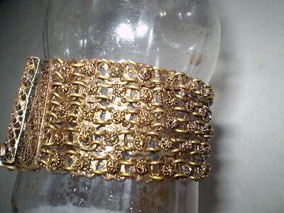 Old  RARE HANDMADE-ANTIQUE -BRACELET  filigree Handmade Bronze 7