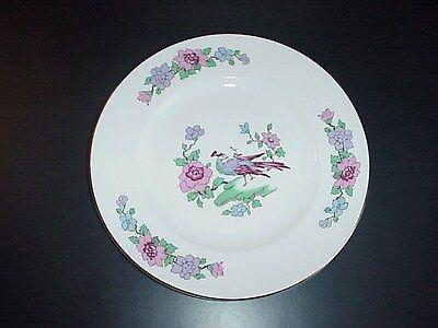 Staffordshire Cathay Fine Bone China England Salad Plates Peacocks