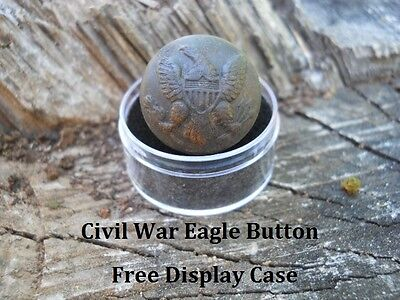Old Rare Vintage Antique Civil War Relic Original Button Confederate Camp