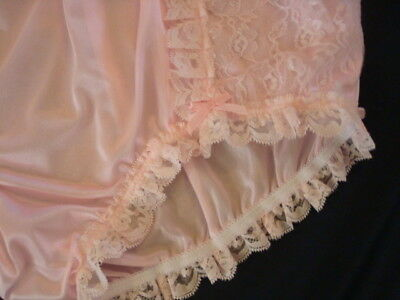 nel-jen Handmade Sissy ALL PINK TRICOT and LACE High Waist  Panties 2