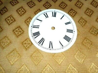 "Round Paper (Card) Clock Dial - 3 1/4"" M/T - Roman - GLOSS WHITE - Parts/Spares 2"