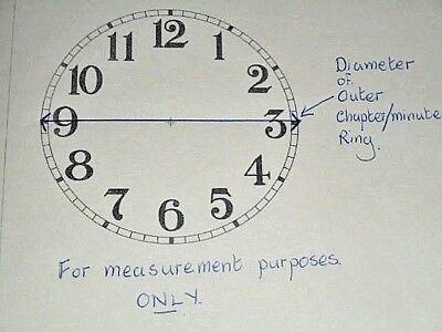"Ogee Paper Clock Dial- 7 1/4"" M/T - Roman -  White Matt - Face/ Clock Parts"