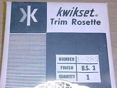 VINTAGE Kwikset DOOR ESCUTCHEON ROSETTE 1-282, fin: 3