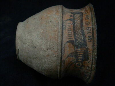 Ancient Large Size Teracotta Painted Pot With Lions Indus Valley 2500 BC #PT219 5