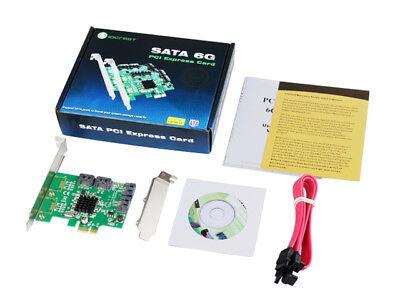IOCrest 4 Port SATA III (6Gb/s) PCI-e Controller Card (Low Profile | Non RAID) 5