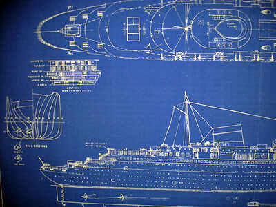 French liner ss normandie 1935 print blueprint plan 13x30 243 2 of 4 french liner ss normandie 1935 print blueprint plan 13x30 243 malvernweather Image collections