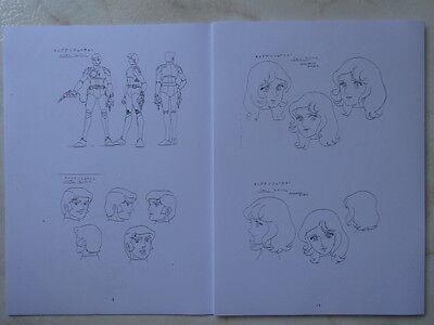 Capitan Futuro Settei Anime Cel Sketchbook Japan Capitane Flam Captain Future 2