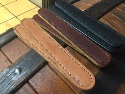 Pair of Made in Maine Stitched Leather TRUNK handles TH04 steamer trunk repair 2