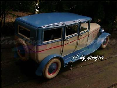 Riesige 34 Cm Lange 4 Türige Lithopgarhierte Blech Limousine Uhrwerkaufzug 7